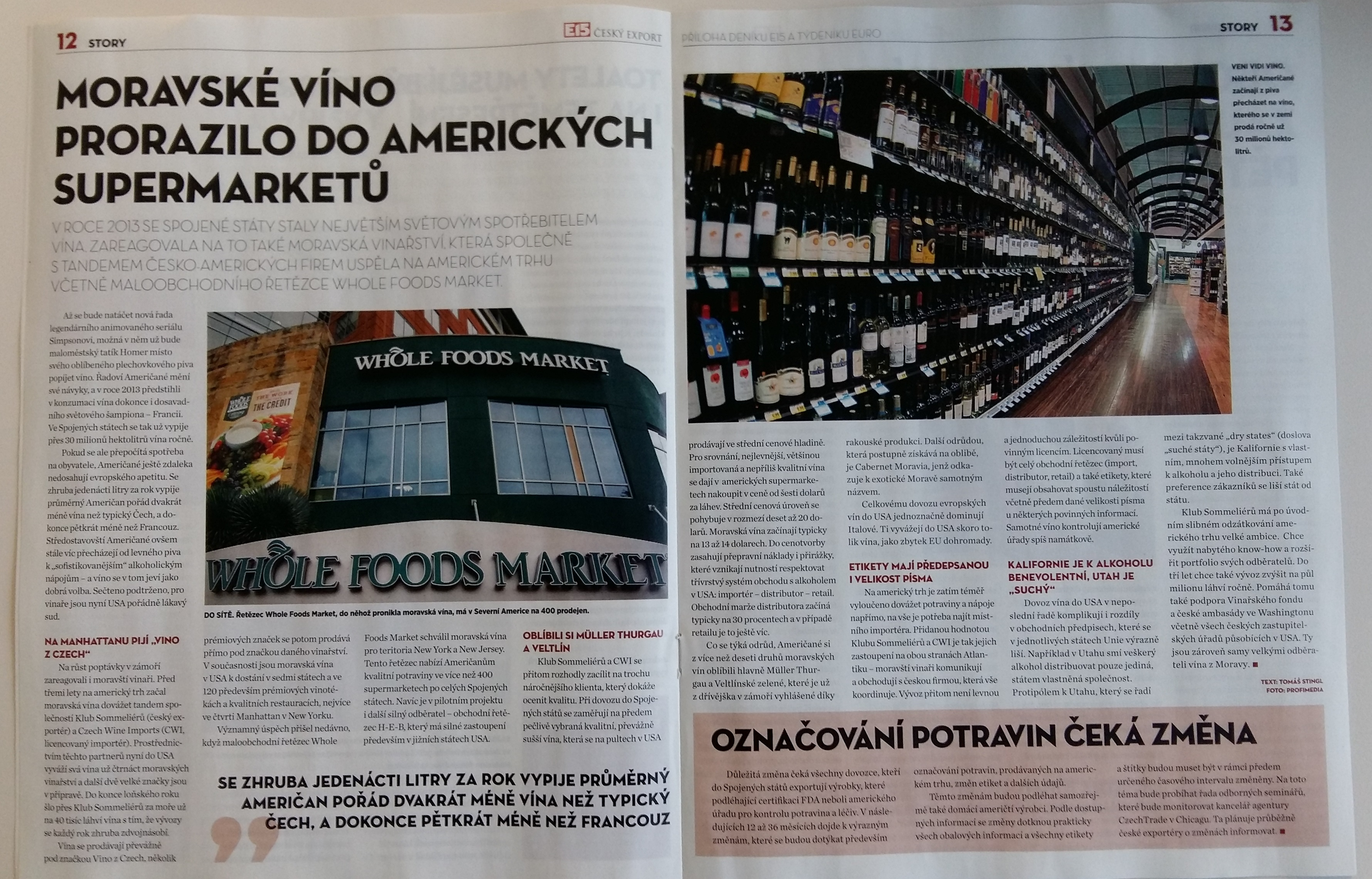 Článke v příloze časopisů EURO a E15